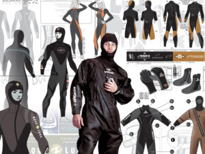 Diving wet and dry suits